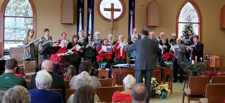 Greeting people singing in the choir